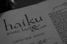 Haiku Poetic Food &amp; Art photo